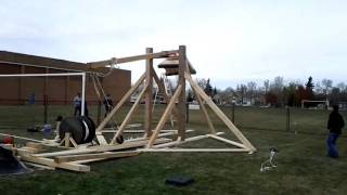 J. H. Picard Trebuchet Launches Water Balloon