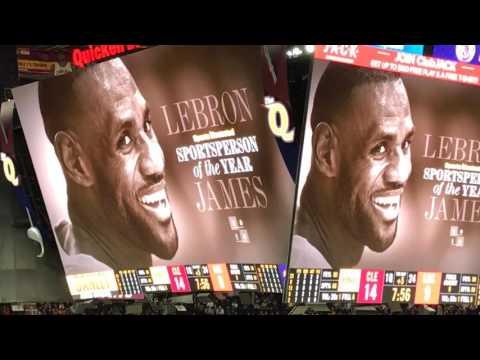 Cleveland Cavaliers fans celebrate LeBron