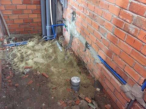 Kho Tư liệu Xây dựng - Cách đi ống nước âm tường nhà vệ sinh nhà ở | cấp thoát Toilet nhà phố
