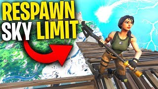 Can You RESPAWN If You DIE ABOVE The BUILD LIMIT? | Can You Get The Respawn Card?Fortnite Mythbuster