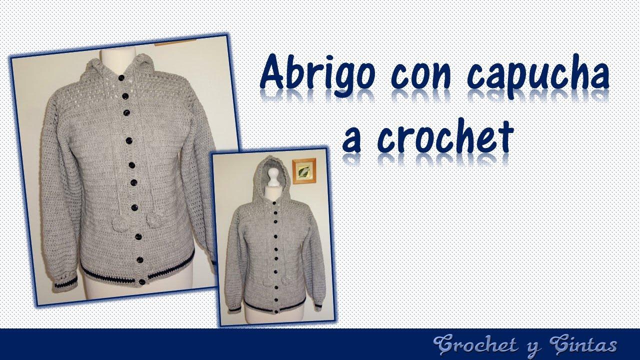 Chaleco - cárdigan con capucha para mujeres tejido a crochet ...
