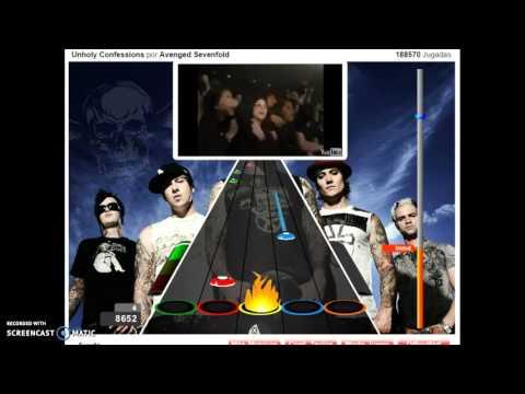 guitar flash :unholy confession por avenged sevenfold (medio) sin audio