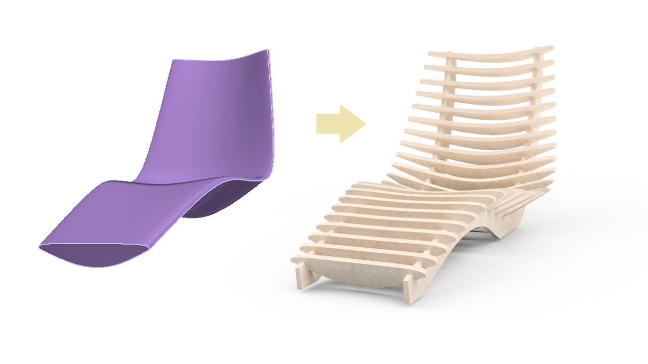 Woodwork For Inventor V8 And Freeform Skeleton Tutorial Sun Chair