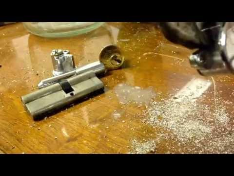How to drill a cylinder lock - Yale, euro or pin  lock