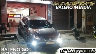 """Only Glass Coated Baleno in India   16"""" Alloys   Modified Baleno 2019   Behind the Wheelz Video"""