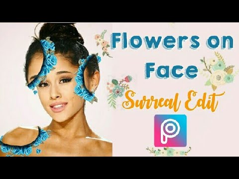 Photo editing with Picsart| Flowers on face effect | Easy picsart edits thumbnail