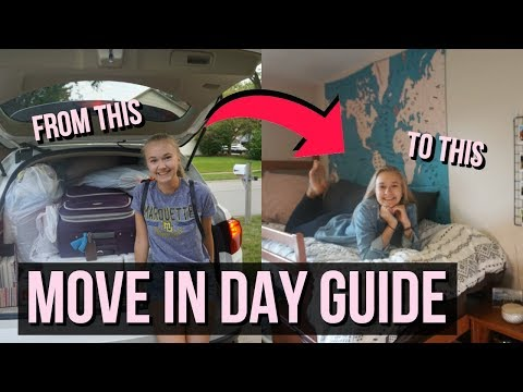 COLLEGE MOVE IN DAY GUIDE  Hacks & Tips