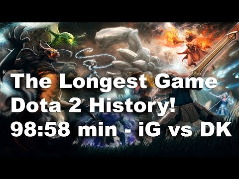 The Longest Game in Professional Dota 2 History! 98:58 min - iG vs DK