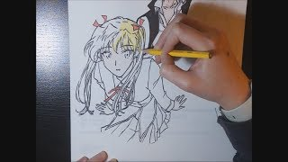 Sawachika Eri - School Rumble (Speed Drawing)