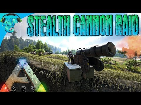 World War ARK - The Ultimate Stealth Raid with CANNONS Toppling the Enemy Tower! E10