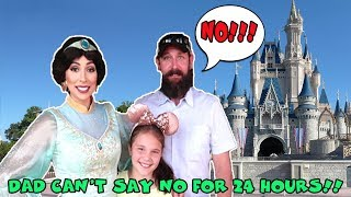 DAD Can't Say NO For 24 Hours! Girls In Charge In Disney World 24 Hour Yes Day On Mom's Birthday