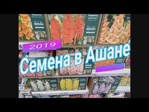 Семена в Ашане 2019 Ассортимент СЕМЯН #ДомовитаяХозяйка
