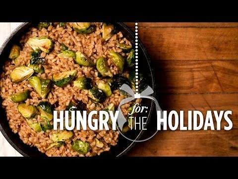 Brussels Sprouts and Farro Salad | Hungry for the Holidays