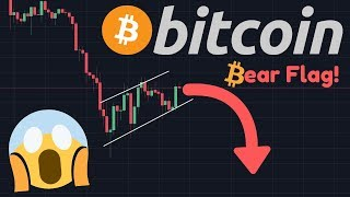 BITCOIN FALLING TO $8,863 SOON!!!   Bear Flag Emerges In The Bitcoin Price