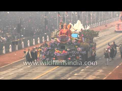 Tableau of Jammu and Kashmir, depicts rural development on R-Day