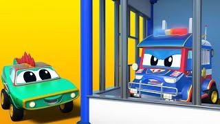 О нет Супер грузовик за решёткой Автомобильный город Детские мультфильмы