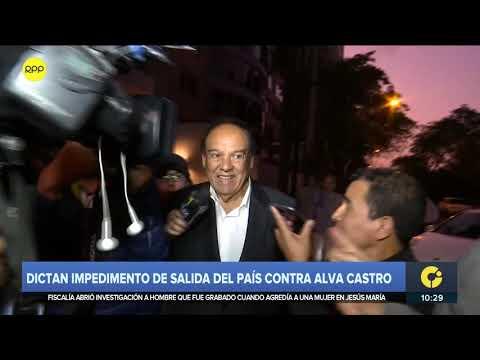 Impedimento de salida del país para Alva Castro y Mark Vito