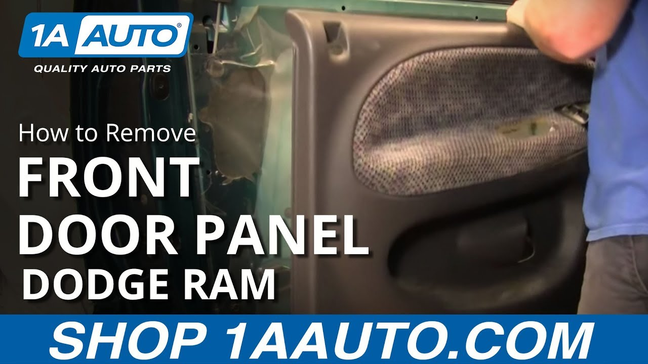 How To Remove Front Door Panels 94 01 Dodge Ram Youtube