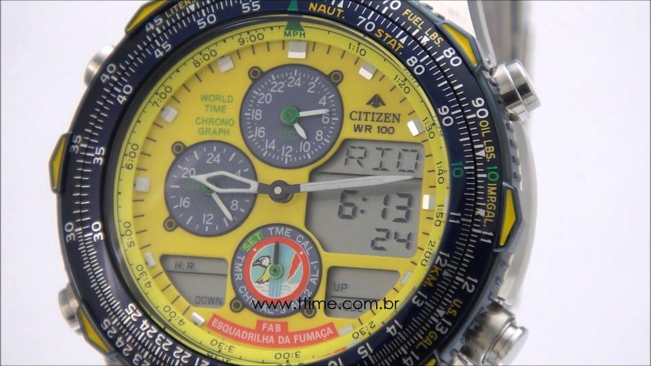 1cf9c51c87b Relógio Citizen Promaster Navyhawk Esquadrilha da Fumaça FAB JN0047-59Y -  TZ10066Y