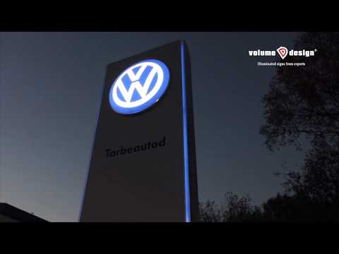 Valgusreklaami täislahenduse tootmine ja paigaldus Möller Auto esidusele