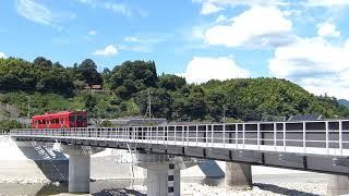 2018/8/26 普通列車(キハ220)走行@光岡~日田間(花月川橋梁)