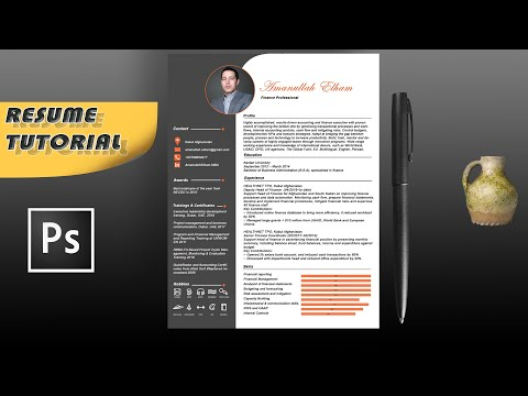 How to Create and Design Professional CV/Resume in Photoshop