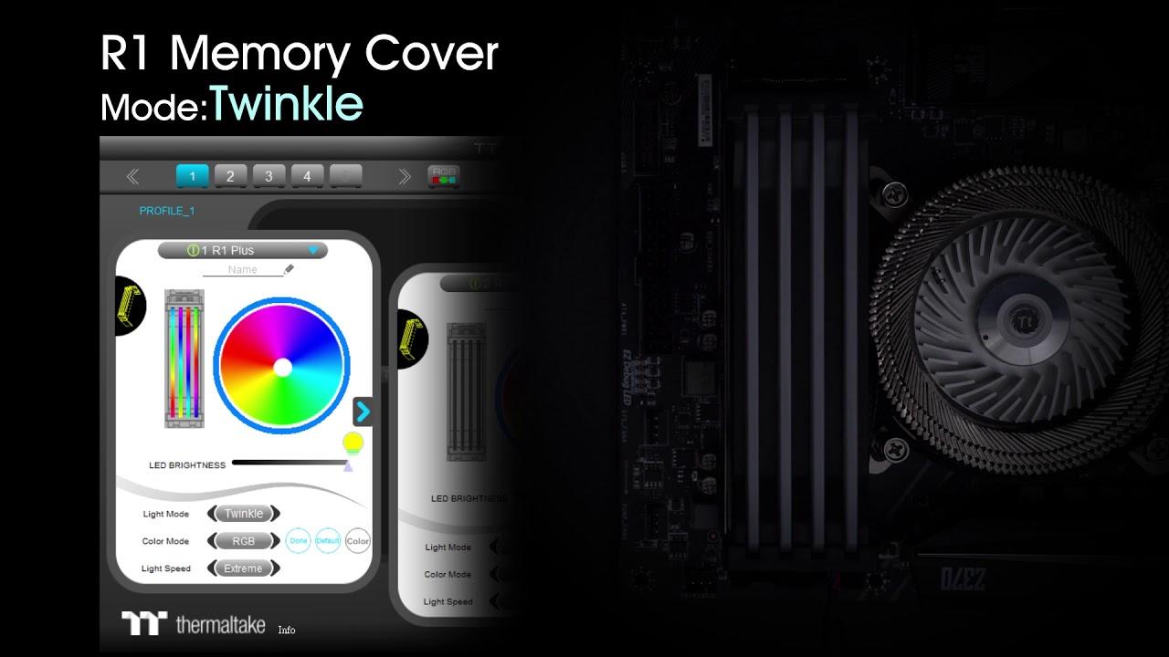 Thermaltake Pacific R1 Plus DDR4 Memory Lighting Kit/LED Memory