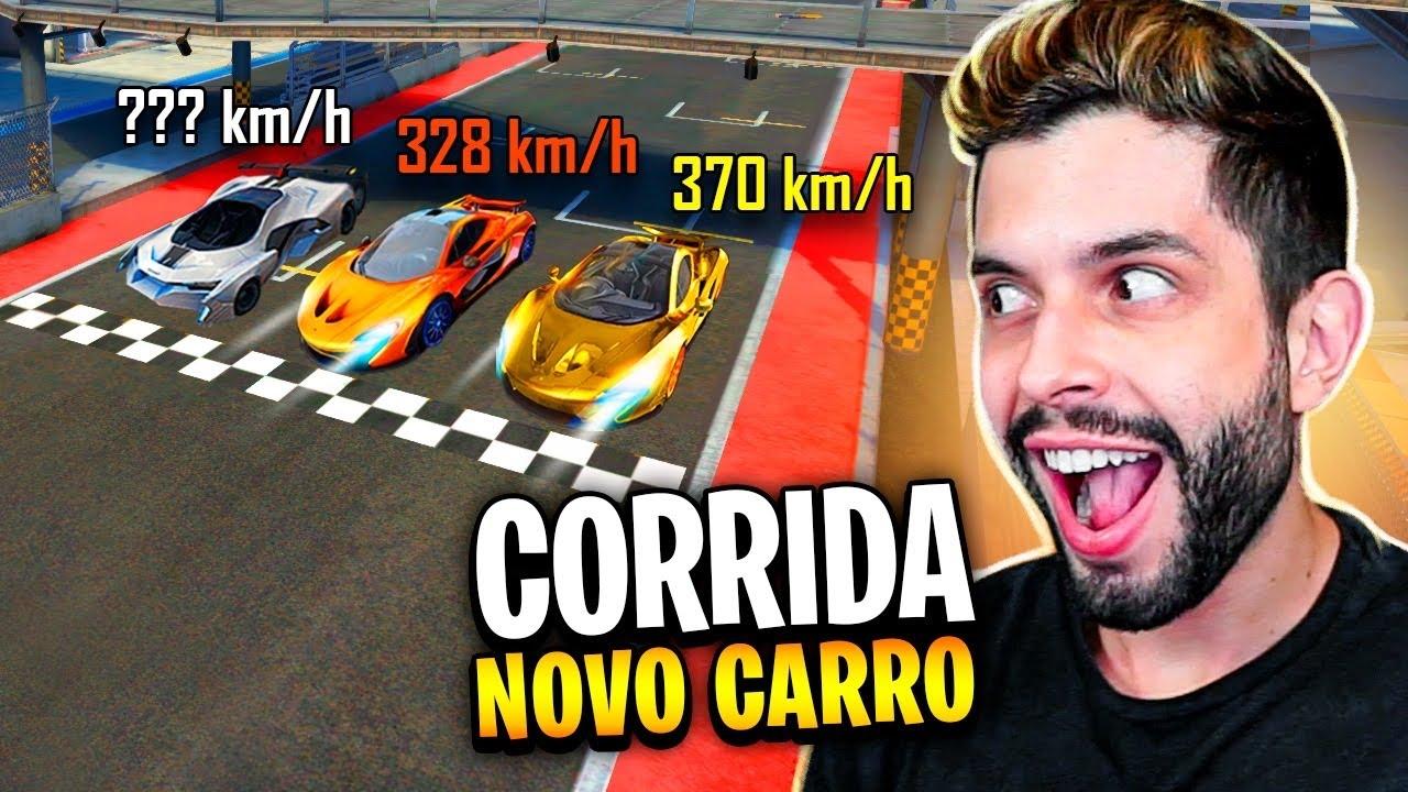 TESTEI O NOVO CARRO ESPORTIVO NA PISTA DO FREE FIRE!!