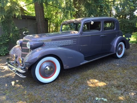 1934 Cadillac 355D Town Sedan. Charvet Clic Cars. - YouTube