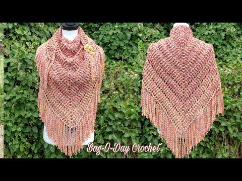 How To Crochet Ladies Ribbed Shawl Wrap | Falling Embers | BAGODAY CROCHET TUTORIAL #518