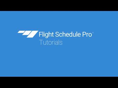 Set up Activity Types on Flight Schedule Pro v4