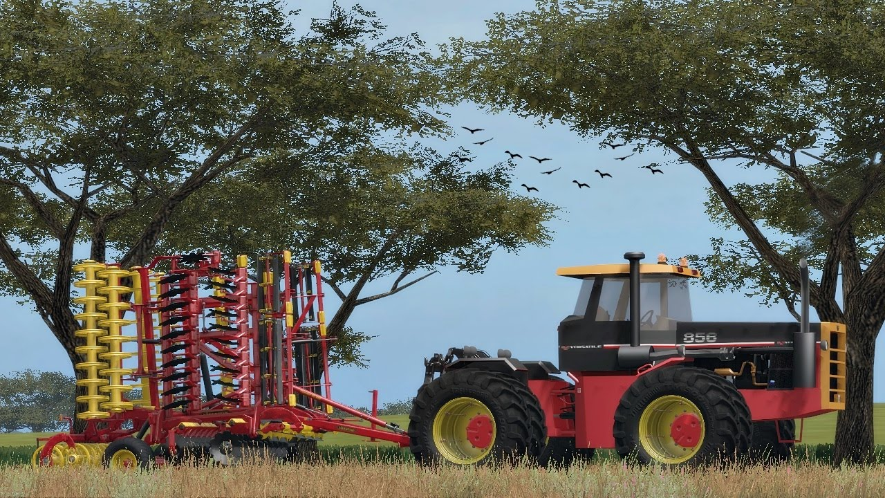 Big Bud 747 >> FS17 - Tractors Power - BIG BUD 747 & VERSATILE 856 - Field Work - YouTube