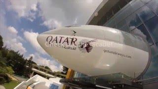 Kidzania Singapore - Full wing Qatar Airways jet!