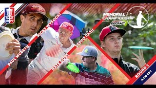 Round One 2018 Memorial Championship presented by Discraft | McBeth, Wysocki, Doss, & Paju