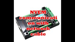 NVEM communication with network cable