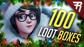 All the New Skins! Opening 100 Winter Wonderland Christmas Loot Boxes (Overwatch)