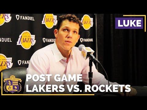 Luke Walton After His First NBA Win As Lakers Head Coach