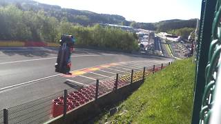 FIA WEC 2018 Spa Francorchamps Crash #17 BR Engineering BR1-AER Eau Rouge