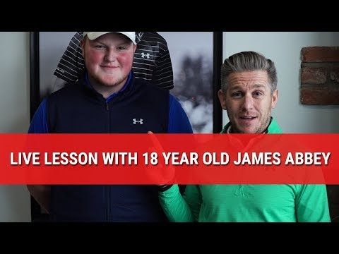 LIVE LESSON WITH 18 YEAR OLD JAMES ABBEY