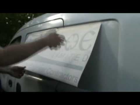 Part 1 - DIY Van Signs: How To Signwrite With Vinyl Graphics
