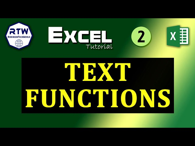 Very useful text functions in MS Excel