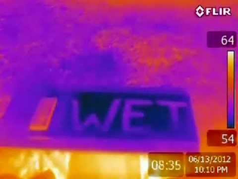 Infrared Video of Roof Scan Physics by Campbell Thermography