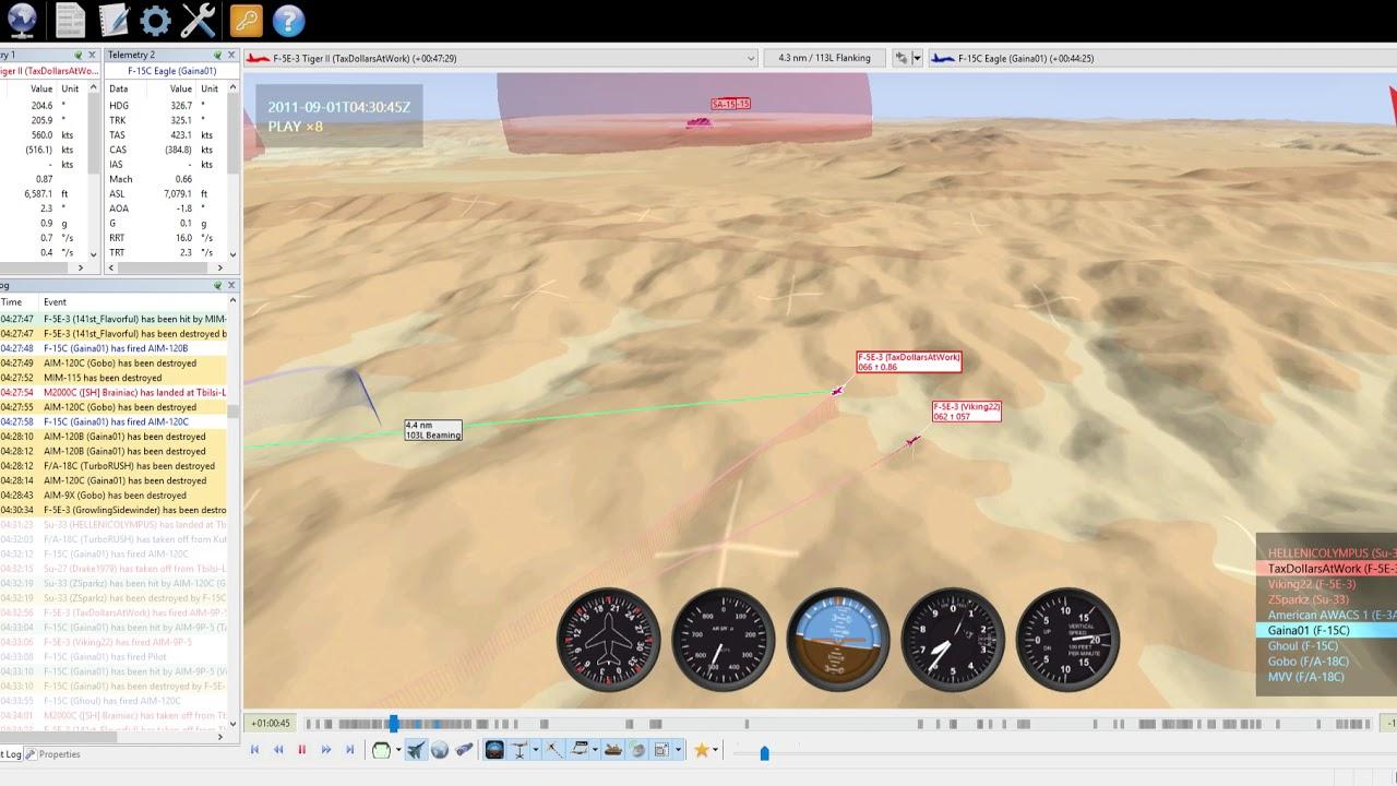 DCS Multiplayer- Operation Urban Thunder V1, 2 Ship F-5 VS  F15C