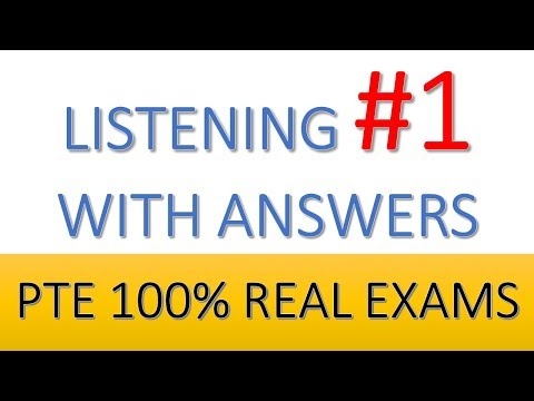 PTE Practice Listening 1: all sections from real test questions