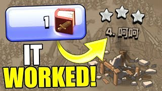 MAGICAL ITEM vs WAR BASE..........IT WORKED!......Clash Of Clans