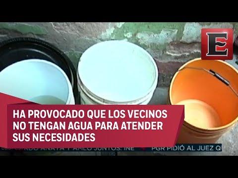 Ecatepec se queda sin suministro de agua potable