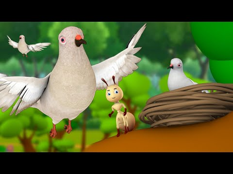 A Lesson To The Ant 3D Animated Hindi Moral Stories For Kids चींटी को सबक कहानी Fairy Tales