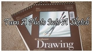 Photoshop Tutorial - Turn a Photo into a Sketch Drawing.