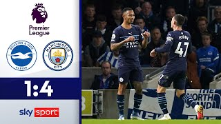 Tore ohne Ende   Brighton & Hove Albion - Manchester City 1:4   Highlights - Premier League 2021/22
