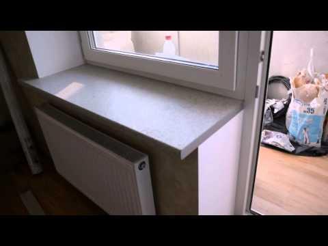 Замена белого подоконника пвх на подоконник из столешницы.